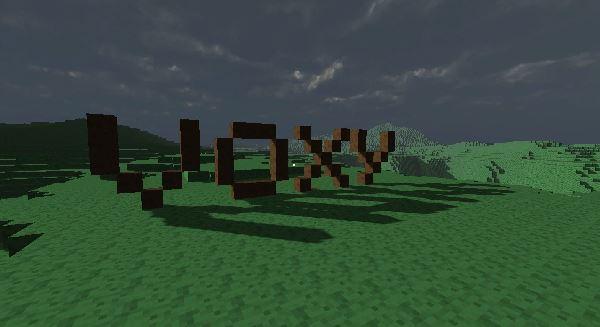 Voxy écrit en voxels